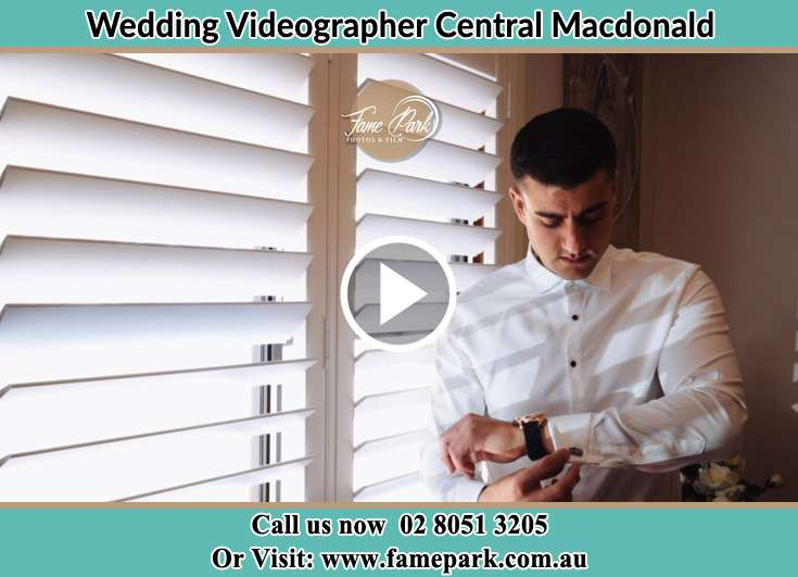 Groom getting ready Central Macdonald NSW 2775