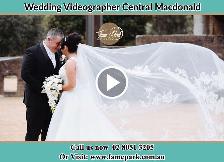 Bride and Groom looking at each other Central Macdonald NSW 2775