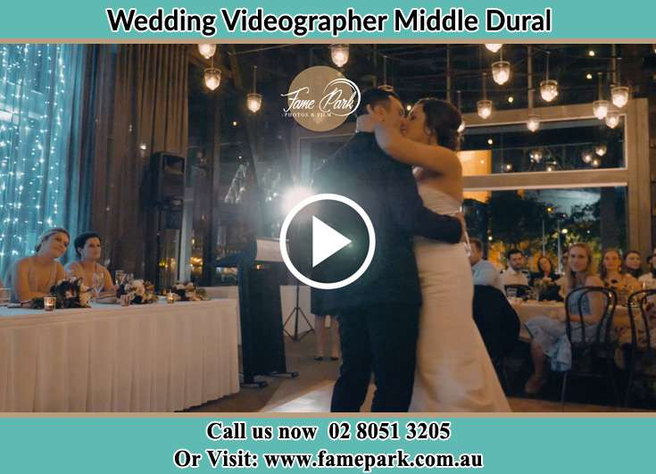 Bride and Groom kissed at the dance floor Middle Dural NSW 2158