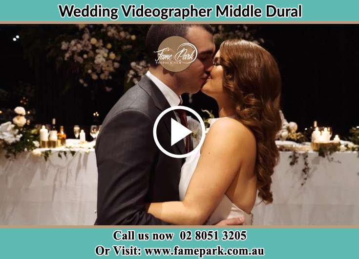 Bride and Groom kissed at the reception Middle Dural NSW 2158