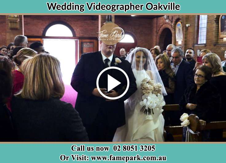 Bride and Groom walking at the aisle Oakville NSW 2765